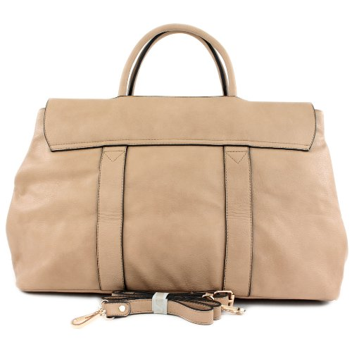Borsa borsetta shopping bag borsa da donna in ecopelle finta pelle LK2277 Beige