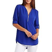 ca411980a1e4 OVERDOSE Mode Frauen Casual V-Ausschnitt Tops T-Shirt Lose Bluse Muttertag  Geschenk Frühling