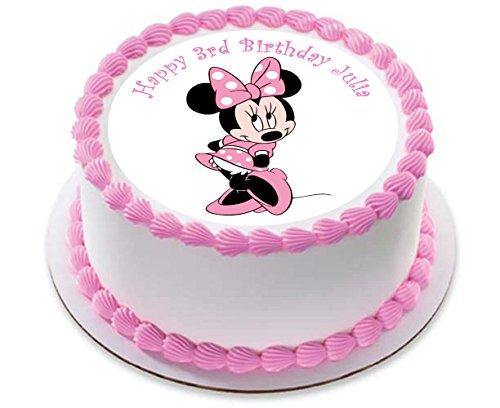 Décoration de gâteau personnalisé avec Minnie Mouse, en pâte à sucre 19,1cm image 5