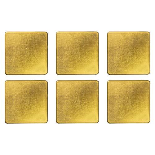 Argon Geschirr Platz Speisetisch Getränke-Untersetzer - Gold - Packung mit 6