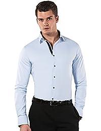 VB Herren Hemd Body Fit (stretch, körperbetont, sehr tailliert) Uni Bügelleicht