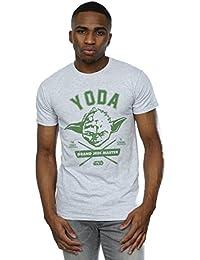 Star Wars Homme Yoda Collegiate T-Shirt Small Heather Gris