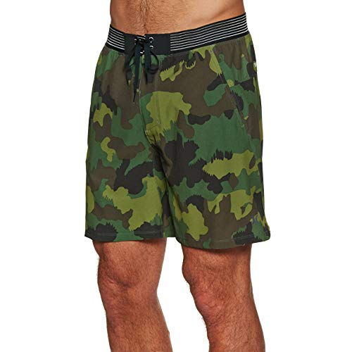 Hurley Herren M Phantom Alpha Trainer CAMO 18' Shorts, Cargo Khaki, L Double Pocket Cargo