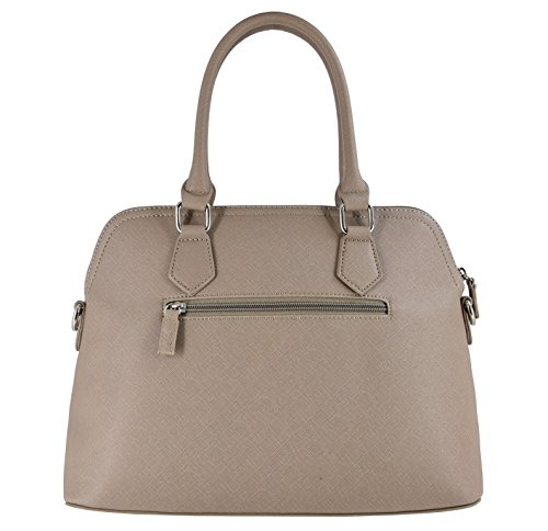 David Jones - Damen Handtasche - Bugatti Tasche - Nubuk Paillette Saffiano Leder - Frau Tasche Rosa Pink