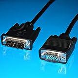 AVE-A Video TV SAT Monitor Zubehör BestPlug 3 Meter D-SUB DVI Kabel / 12+5 DVI-A Stecker auf S-VGA Stecker / HD / Schwarz