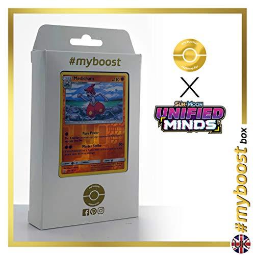 Medicham 110/236 Holo Reverse - #myboost X Sun & Moon 11 Unified Minds - Box de 10 cartas Pokémon Inglesas