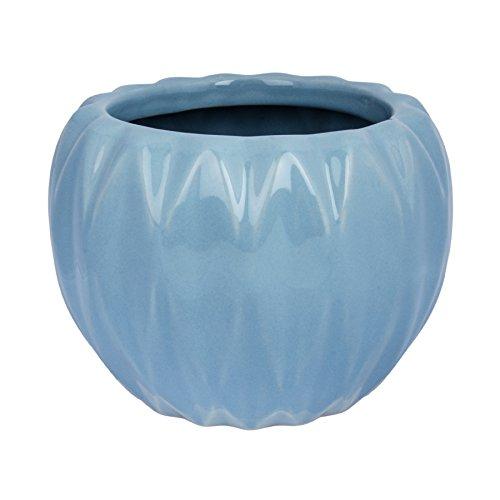 Übertopf   Blumentopf Pflanzkübel Keramik Vase (Flipp, Himmelblau)