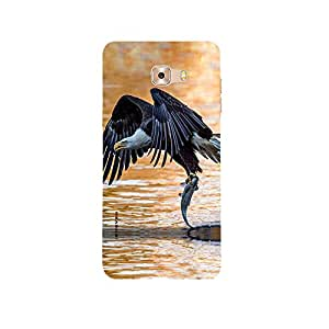 iSweven bird and fish design printed matte finish back case cover for Samsung Galaxy C9 Pro