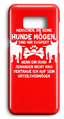 shirt-o-magic Handyhülle Hundeliebhaber: Hunde-Menschenkenntnis - Case -Samsung S8-Rubinrot