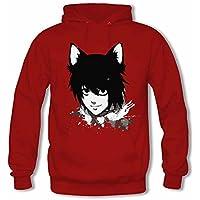 New Design Womens Black Butler Anime Long Sleeve Hoodie Winter Hooded Sweatshirt