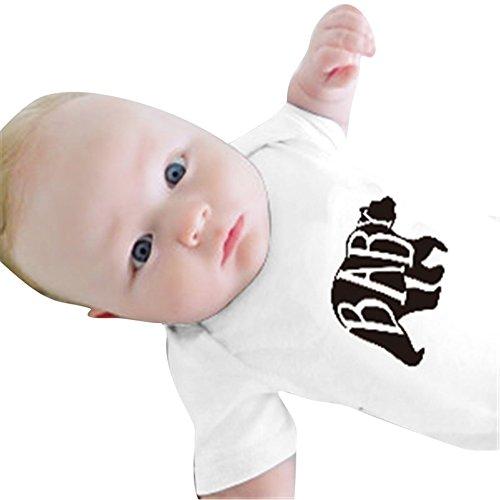 3 T-shirt-männer 4 Sleeve (Juqilu Familie Passende Kleidung Cartoon Bär Patter Frauen Männer Baby Kinder Baumwolle Kurzarm T-Shirt Tops Grey Baby M)