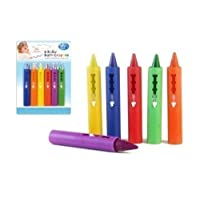 6 coloured Bath Crayons