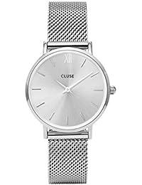 Cluse Unisex-Armbanduhr Analog Quarz Edelstahl CL30023