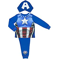 Marvel Los Vengadores Capitán América Niños Pijamas - - 7-8 Years / up to 128 cm