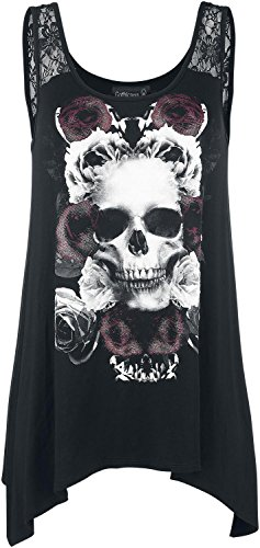 Gothicana by EMP Loose Skull Top Top donna nero XS