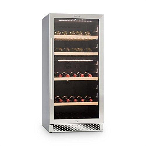 Klarstein Botella 120D • Nevera para vinos o Bebidas • Vinoteca • 261 litros • 111 Botellas • 2 Zonas...