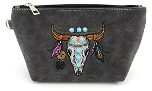 YESIR CREATION Angie & Allie Angie & Allie süße mittelgroße Reisetasche mit Reißverschluss und Strasssteinen, multifunktional, tragbar, Kosmetiktasche, Make-up-Tasche für Frauen (schwarz) - Tote Sattel