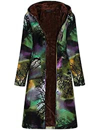 Abrigo Mujer Invierno Rebajas,Chaqueta Suéter Impreso más Grueso Abrigo EUZeo Suelto algodón Jersey Mujer