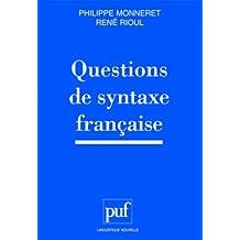 Questions de syntaxe française