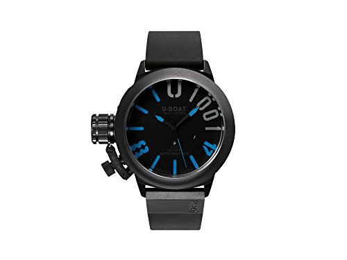U-Boat U-1001 Classico Automatic Watch, IPB, Black/Blue, 47mm, 7541