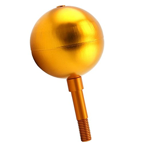D DOLITY 42 LED Upgrade Fahnenmast Solar Licht Yard Garten Deko Leuchte Lampe, Gold Flagpole Ball - Flag Ball Top