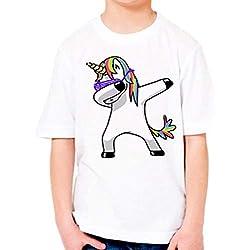 PICCOLI MONELLI Camiseta bebé niña Camiseta contra té Unicornio 4 años 100-110 cm