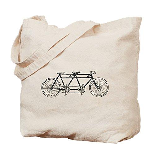 CafePress Old Tandem Einkaufstasche aus natürlichem Leinen, Einkaufstasche aus Stoff