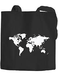 Algodón Funda mapa del mundo World Map Bolsa de tela bolsa bolsa yute algodón Autiga®