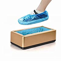 JIGAN Automatic Shoe Cover Machine Dispenser with 100 Disposable Plastic Shoe Covers for Home Shop Office Medical Laboratory