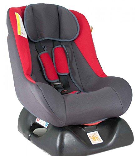 Optische Mängel - Autokindersitz Remi von UNITED-KIDS, verschiedene Designs, Sonderpreis wegen Lagerräumung, Gruppe 0+/I, 0-18 kg, Farbe:Rot - Grau OI