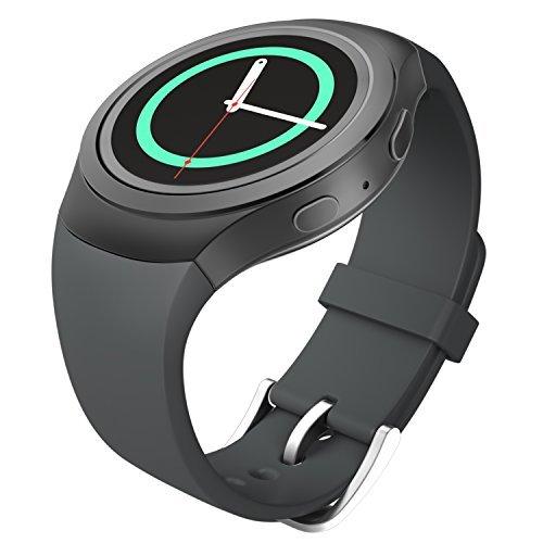 MoKo Samsung Watch Bracciale, Morbido Cinturino Sportivo di Ricambio in Silicone per Samsung Galaxy Gear S2 Smart Watch, Grigio...