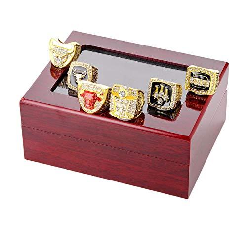 Bulaouz Herren Goldener Diamant Basketball Chicago Jordan Meister Set Ringe,Größe 54 (17.2) -