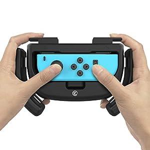 GameSir Joy-Con Griffe für Nintendo Switch, verschleißfester Joy-Con Griff für Nintendo Switch, schwarz