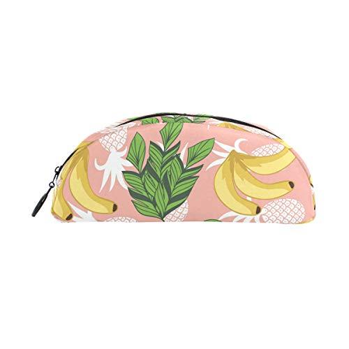 Estuche semicircular lápices plátanos piñas gran