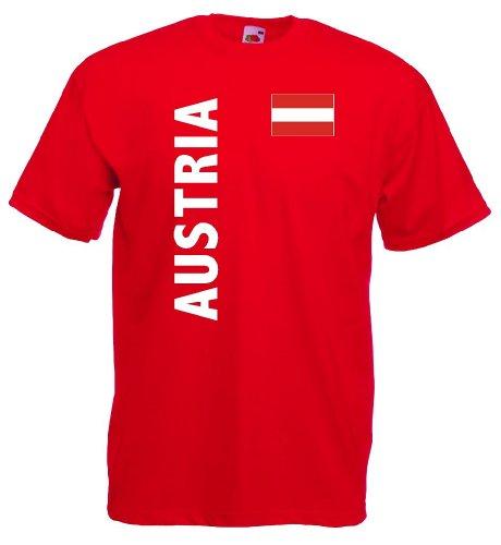 Fruit of the Loom world-of-shirt Herren T-Shirt Österreich Trikot Fan Shirt r-xxxl