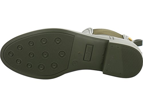 Limone Gelatina Damen Splash Chelsea Boots Metallo Verde Compagno