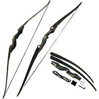 MILAEM 30-60lbs Takedown Recurve Bogen Bogensport 60 Zoll Langbogen für Bogenschießen Jagd rechte Hand