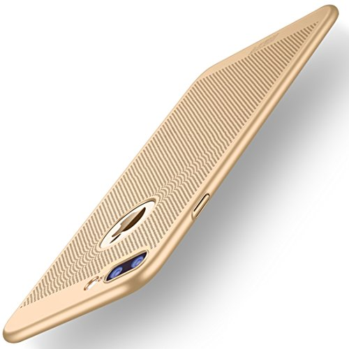 Wkae Honeycomb Texture Breathable PC Shockproof Schutzhülle für iPhone 7 Plus iPhone 8 Plus ( Color : Rose gold ) Gold