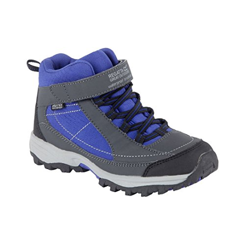 Regatta Great Outdoors Childrens/Youths Boys Trailspace Mid Junior Walking  Boots (UK 2) (Briar/Surf)