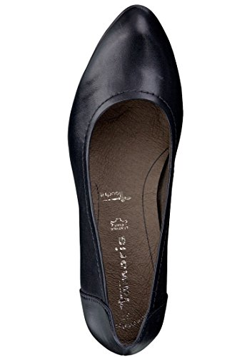 Tamaris Pumps ''1-22408-23'' aus Leder in schwarz Schwarz