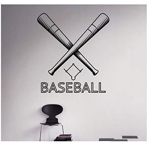 Lvabc Baseball Wandaufkleber Dekoration Benutzerdefinierte Name Spiel Jungen Schlafzimmer Dekor Wandtattoos Jeder Raum Wasserdicht Aufkleber 42X60 Cm (Raum Dekor Spiele Halloween)