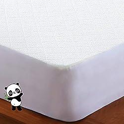 BedStory Protector de Colchón Impermeable, Cubre Colchón, Fibra de Bambú, Transpirable, Hipoalergénico, Silencioso, Anti-Ácaros, Antibacteriano 160 x190/200 cm