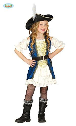 Enter-Deal-Berlin KINDERKOSTÜM - Piraten KAPITÄN - Größe 142-148 cm ( 10-12 Jahre ), Karibik Seeräuber Mädchen Girl