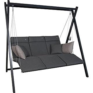 Angerer Relax Hollywoodschaukel 3-Sitzer Smart, stone grau, 220 x 150 x 210 cm, 7000/273