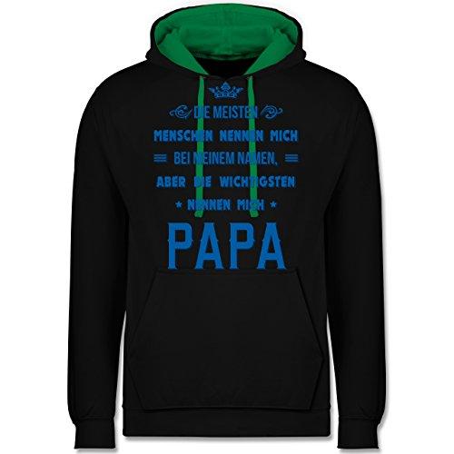 Vatertag - Die Wichtigsten nennen mich Papa - Kontrast Hoodie Schwarz/Grün