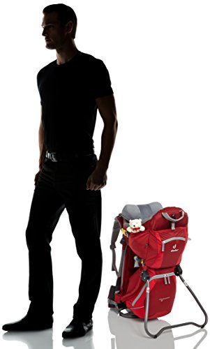 Deuter Unisex Kindertrage Kid Comfort 2, Cranberry-Fire, 72 x 43 x 34 cm, 16 Liter, 3651455600 Cranberry Fire