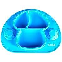 Plato Bebé Con Ventosa De Última Generación - Silicona Alimentaria - Mantel Antideslizante Para Trona -