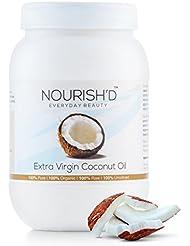 Huile de coco extra vierge (800g) – 100 % brute et certifiée biologique
