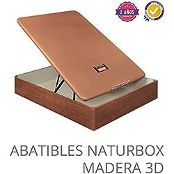 CANAPE ABATIBLE NATURBOX MADERA 3D 150X190 Wengue