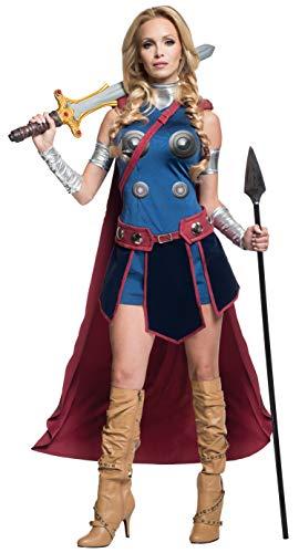 Kostüm Valkyrie - Generique - Walküre-Damenkostüm Lizenz Thor Ragnarok bunt XS